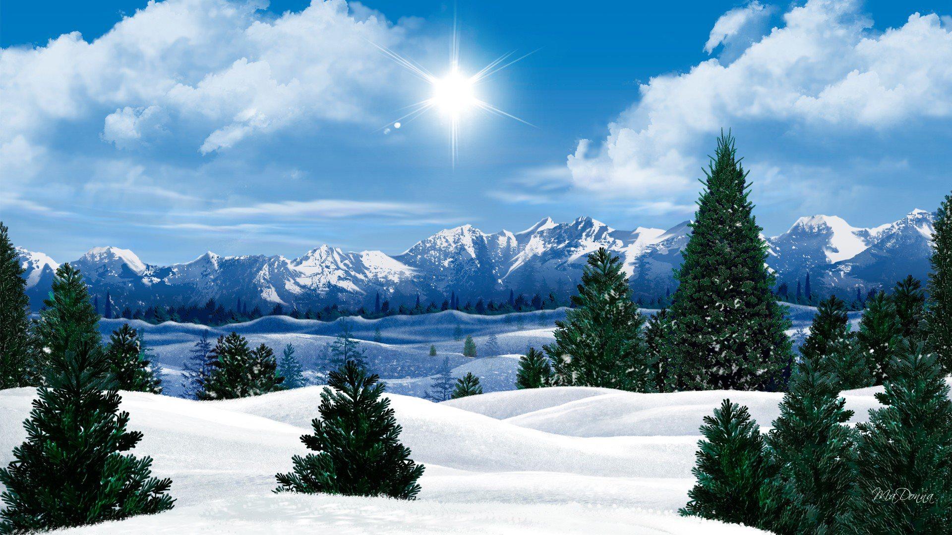 Apple Iphone 8 Wallpaper Download Winter Morning Sun Wallpaper 1920x1080