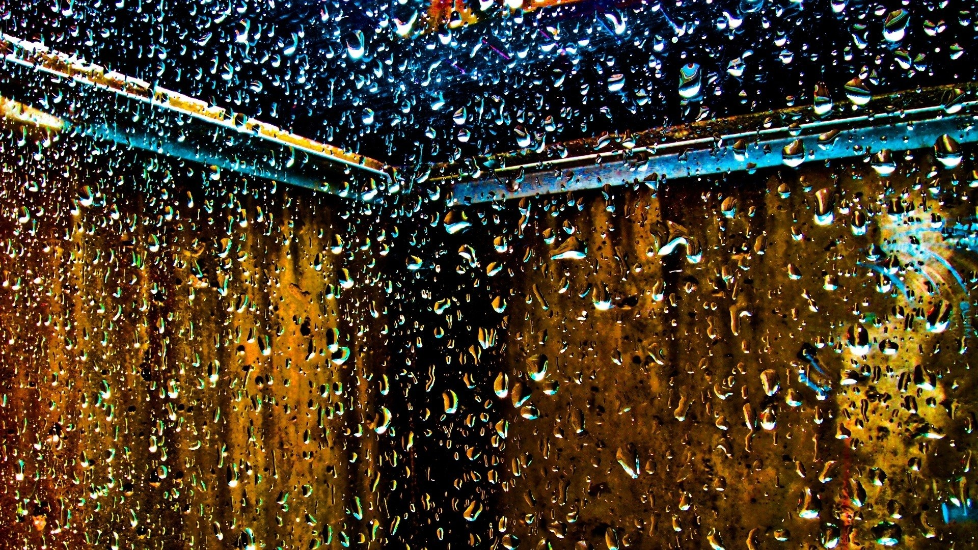 Top 10 Sports Car Wallpapers Water Droplets Window Panes Glass Wallpaper 1920x1080