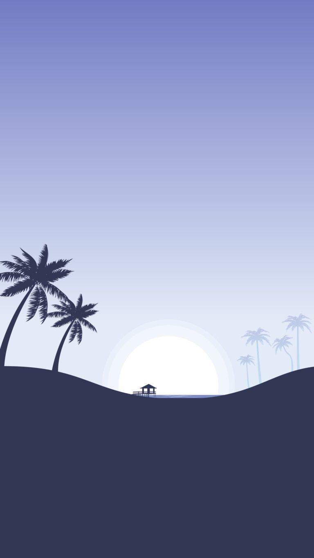 Palm Tree Iphone Wallpaper Minimalist Wallpaper 22 1620 X 2880