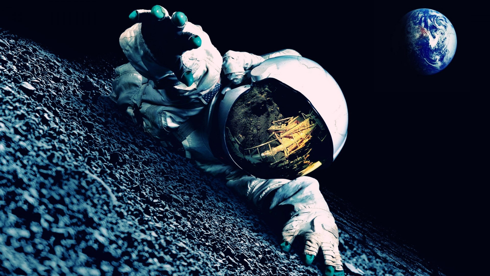 3d Wallpaper S8 Astronaut Mood Earth Planets Mask 1920 X 1080