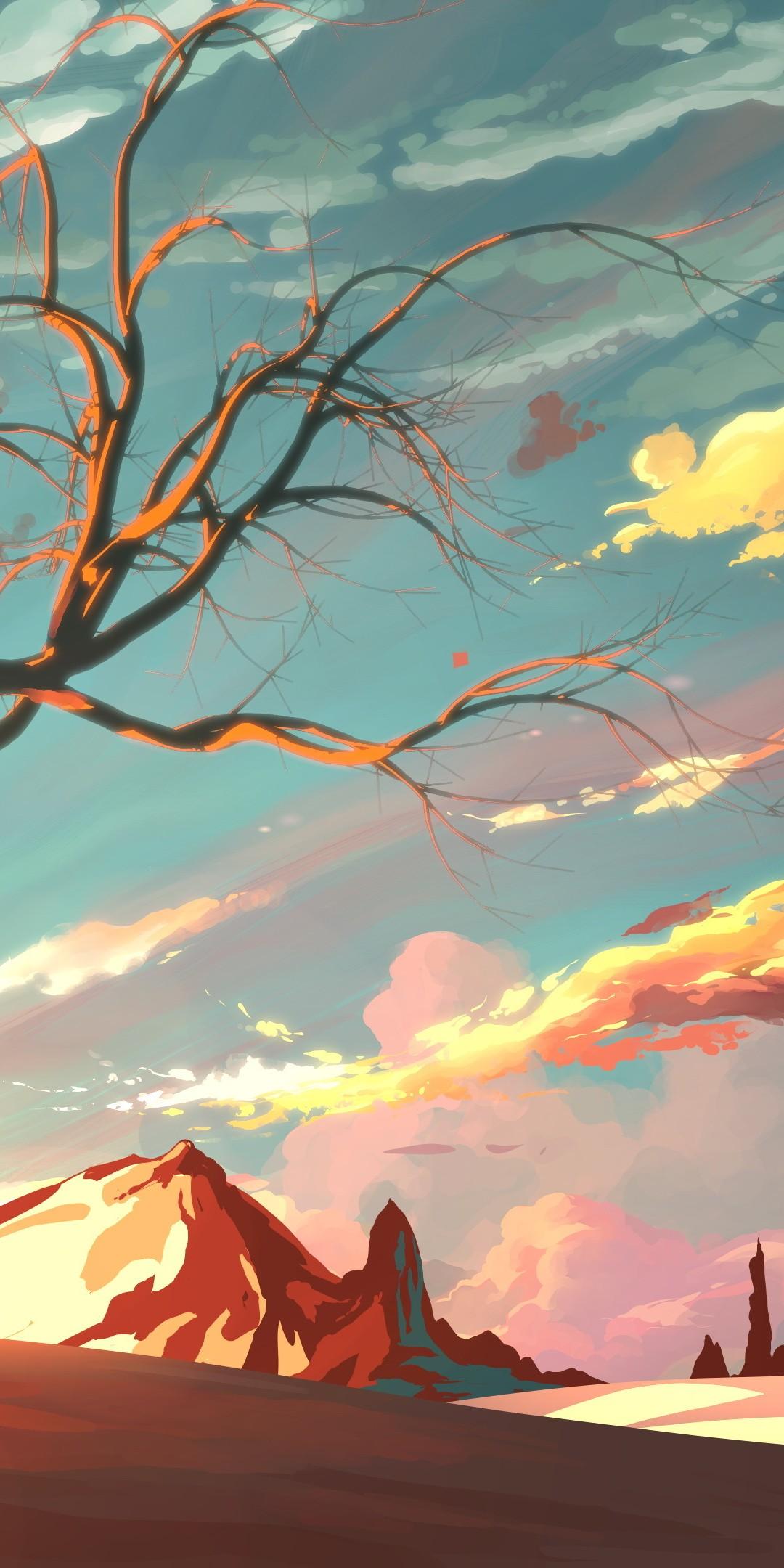 Iphone X Wallpaper For Note 8 Artistic Landscape Wallpaper 1080x2160