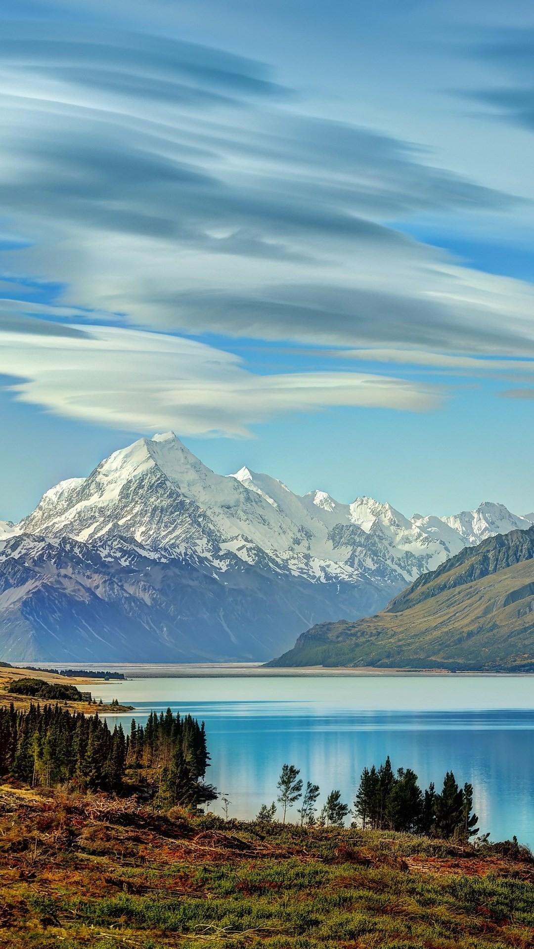 C9 Iphone Wallpaper Beautiful Lake New Zealand Of Wallpaper 1080x1920