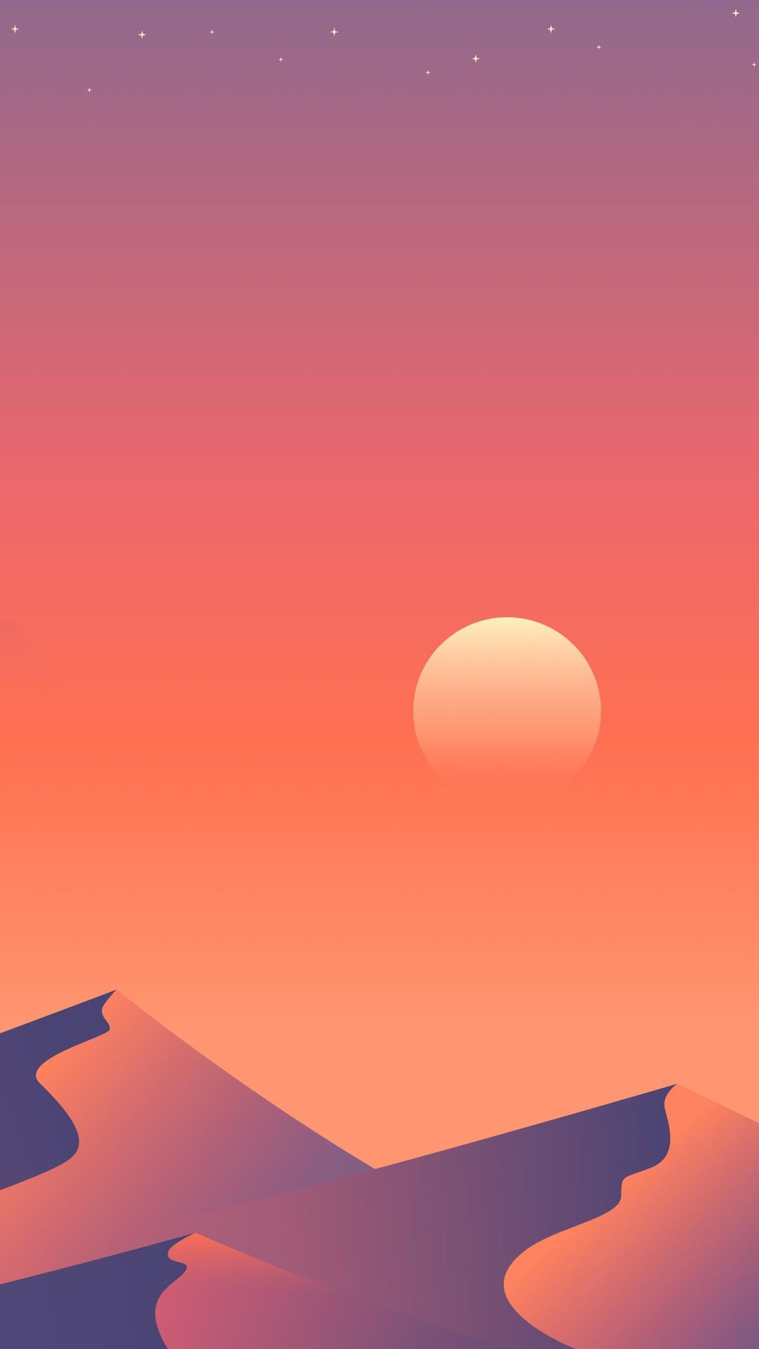Plane Iphone Wallpaper Desert Sun Day Minimalism 1a Wallpaper 1080x1920