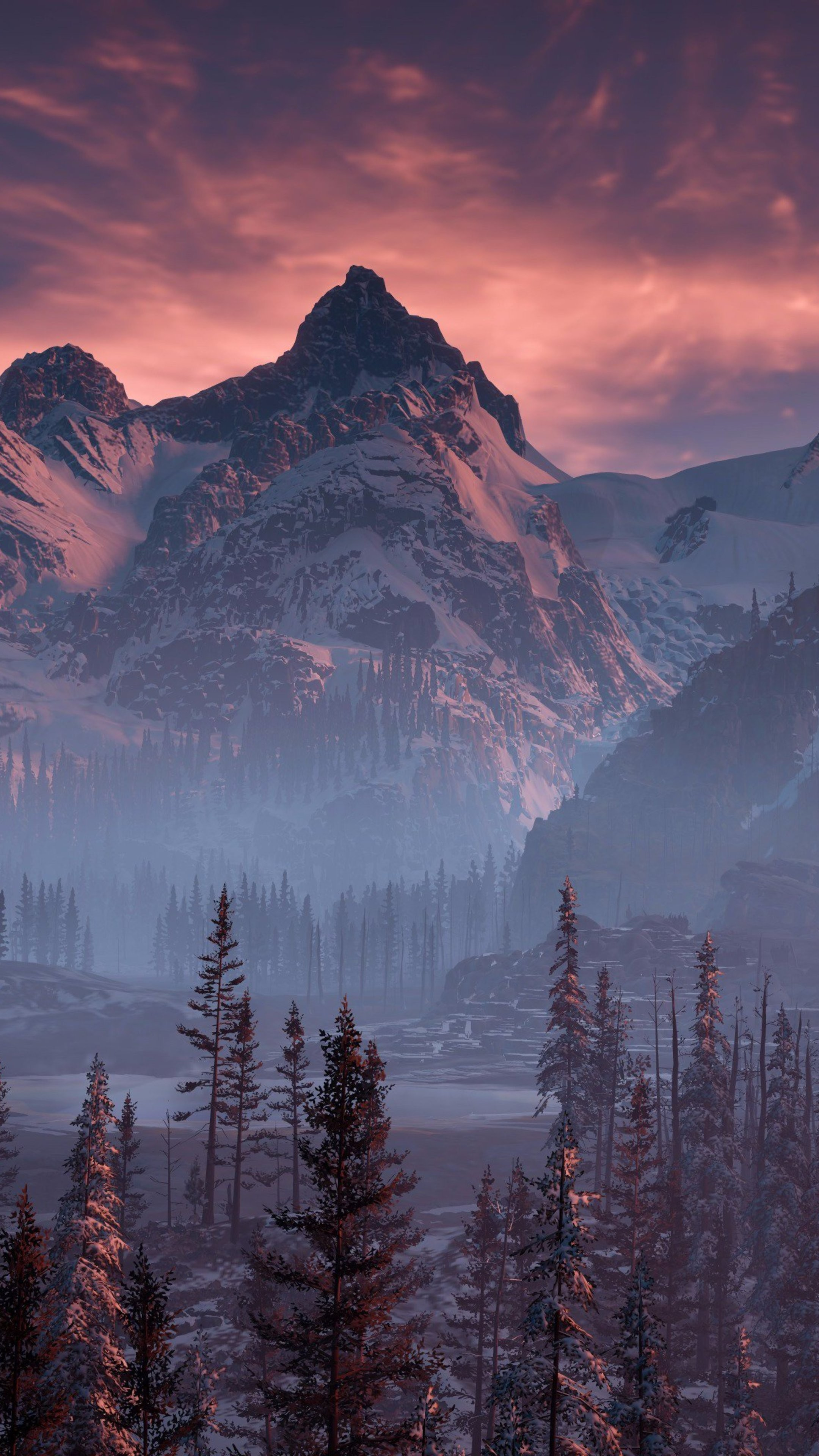 Iphone Wallpapers Hd Zedge Horizon Zero Dawn Nature Mountains Trees Sky Yj Wallpaper