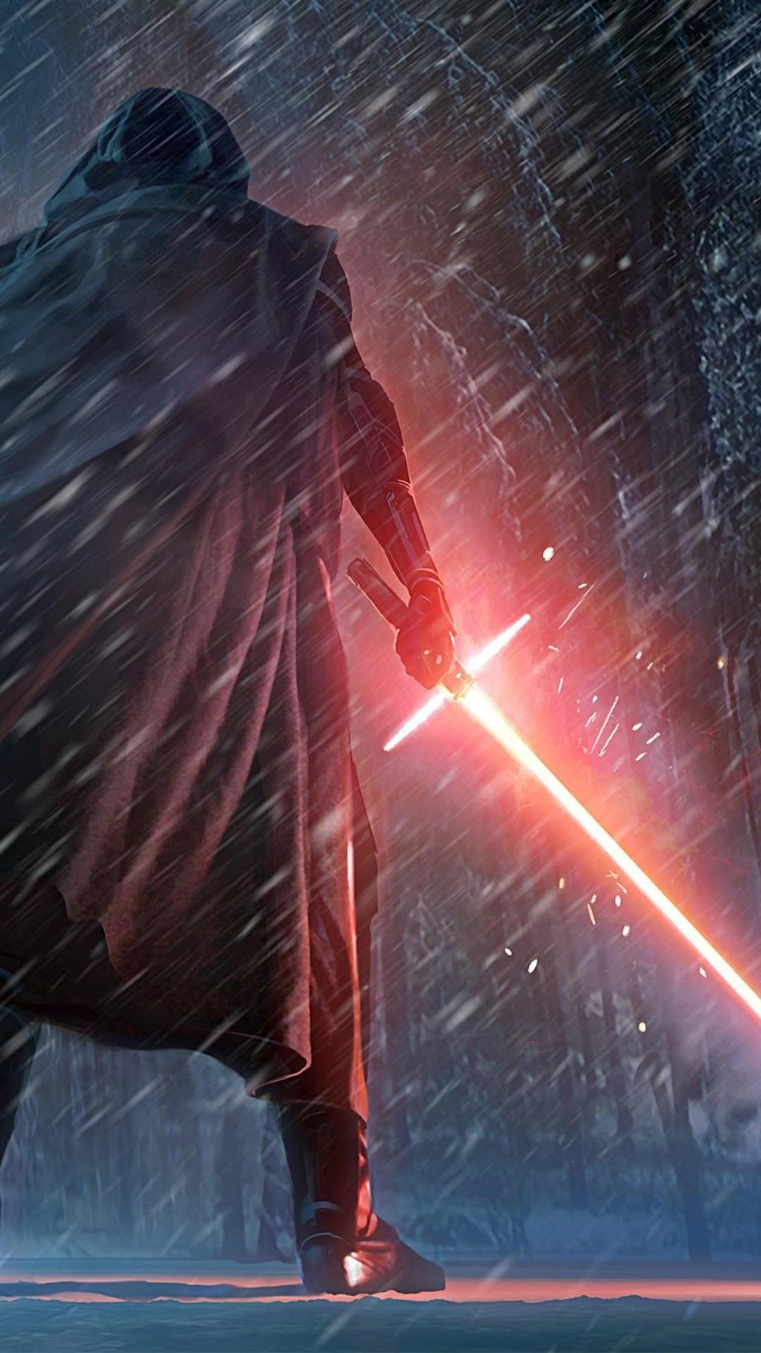 Lightsaber Iphone Wallpaper Kylo Ren Star Wars Wallpaper 1080x1920