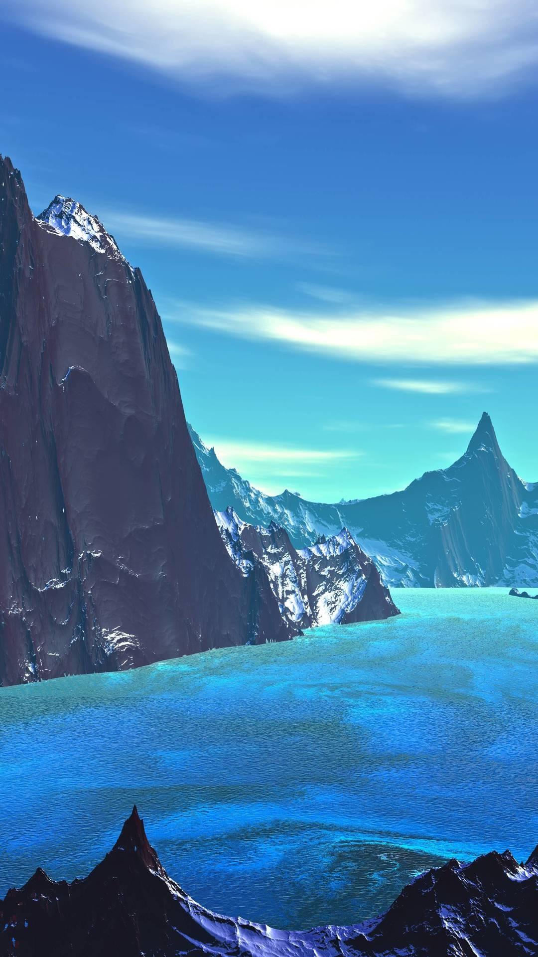 Under The Sea Wallpaper Hd Lake 8k Blue Landscape Artistic Vn Wallpaper 1080x1920