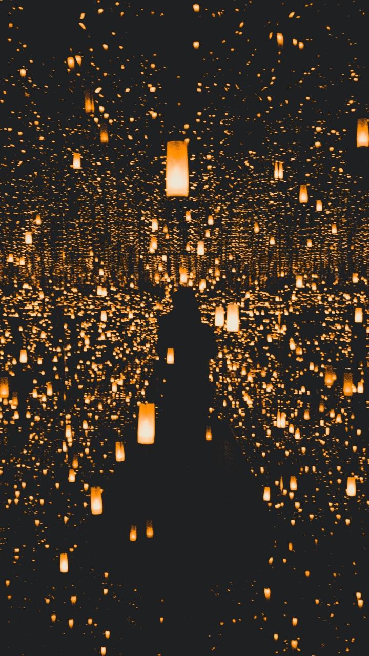 Falling Bridge Wallpaper Lights Light Lighting Wallpaper 720x1280