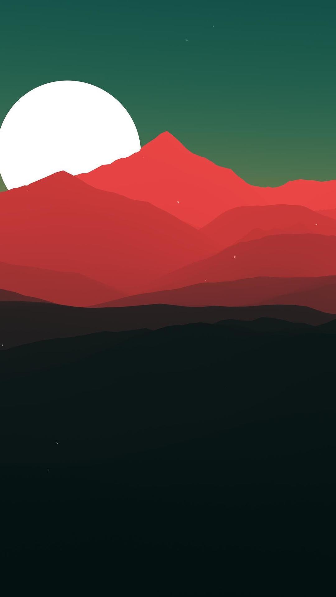 Oled Wallpaper Iphone X Minimalist Landscape Jt Wallpaper 1080x1920