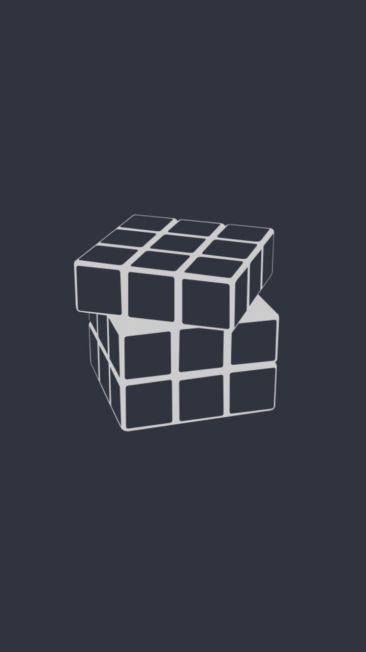 Full Hd Wallpaper For 5 Inch Screen Rubiks Cube Minimalism U3 Wallpaper 720x1280