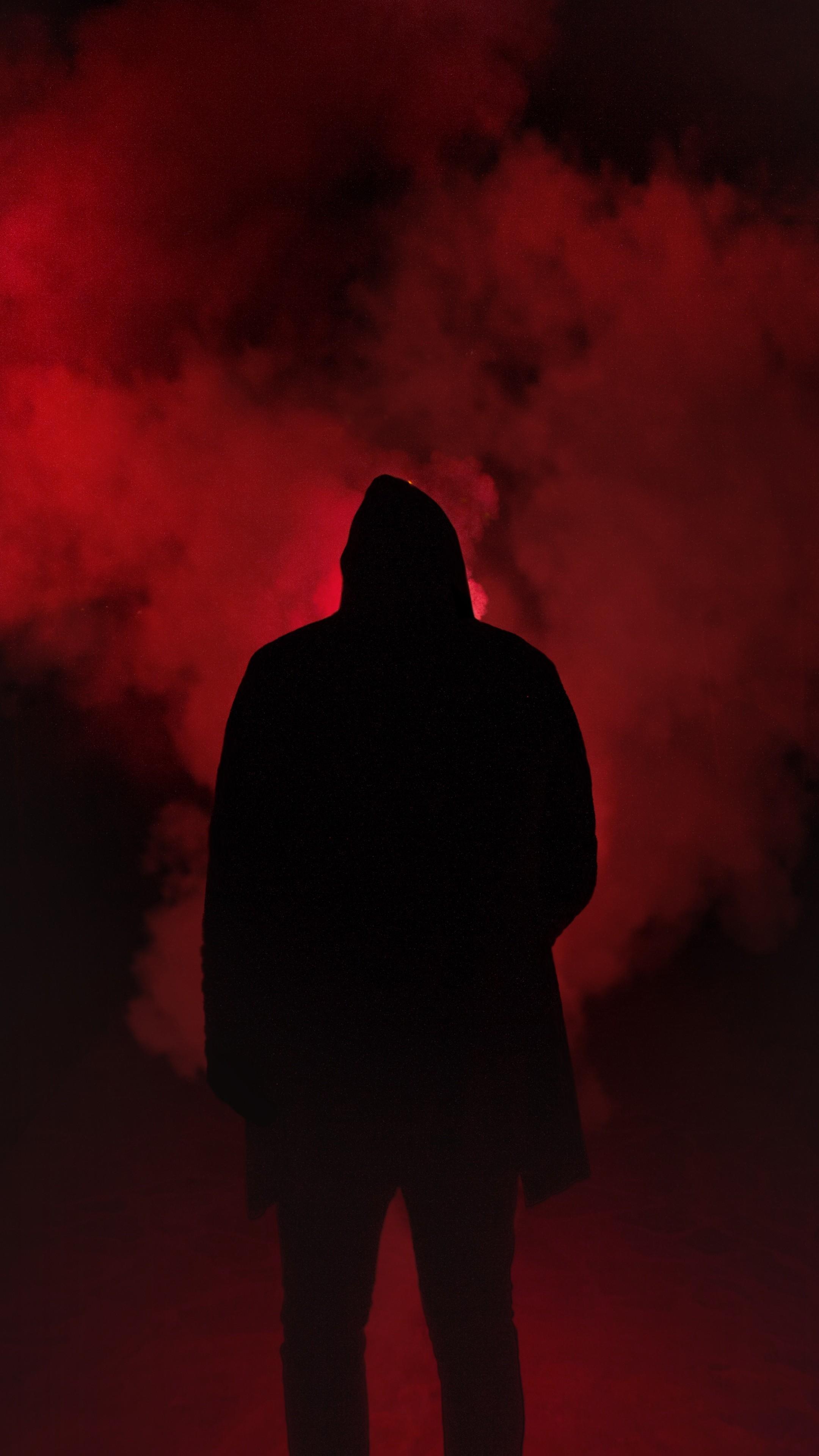 Bryson Tiller Wallpaper Iphone Silhouette Smoke Man Hood Wallpaper 2160x3840