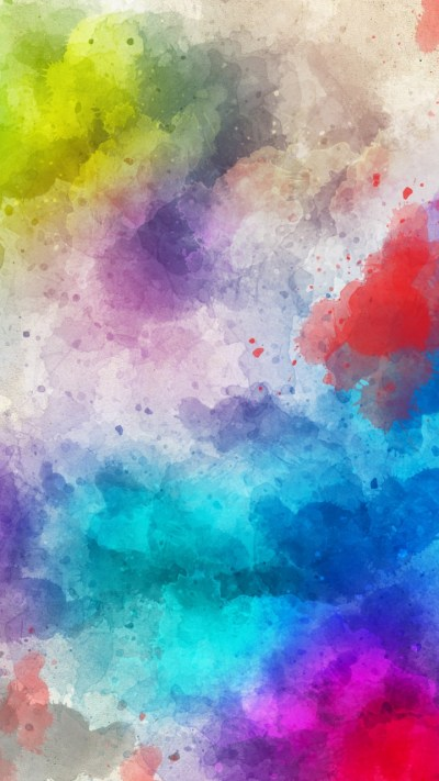 Stains Watercolor Paint Abstraction Wallpaper- [720x1280]