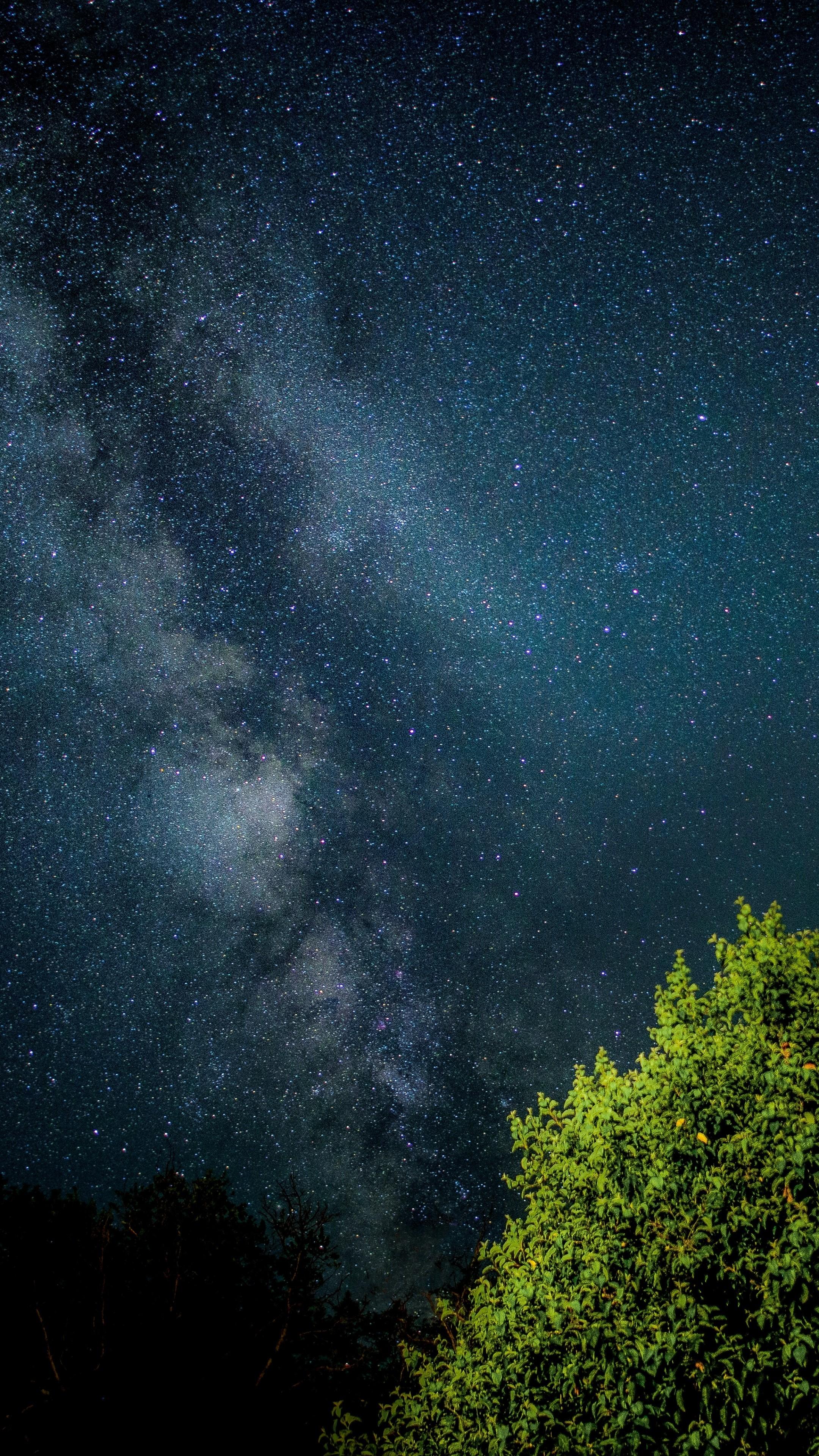 Islamic 3d Wallpapers Download Starry Sky Night Lights Wallpaper 2160x3840
