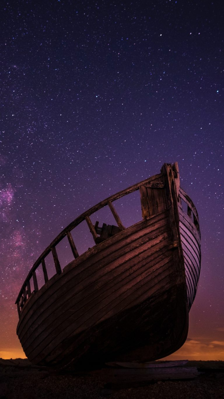 For Honor Wallpaper Iphone Boat Starry Sky Night Wallpaper 1440x2560