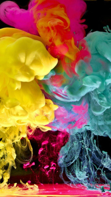 Cmyk Wallpaper Hd Cool Colorful Smoke Wallpaper 1440x2560