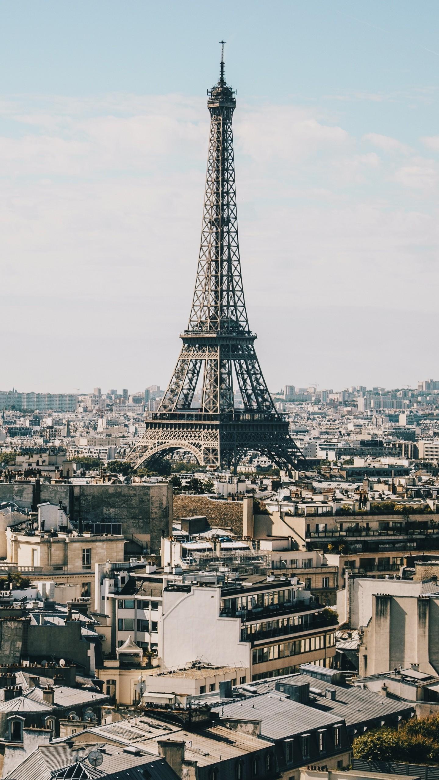 F1 2017 Car Wallpaper Eiffel Tower Paris Buildings Wallpaper 1440x2560