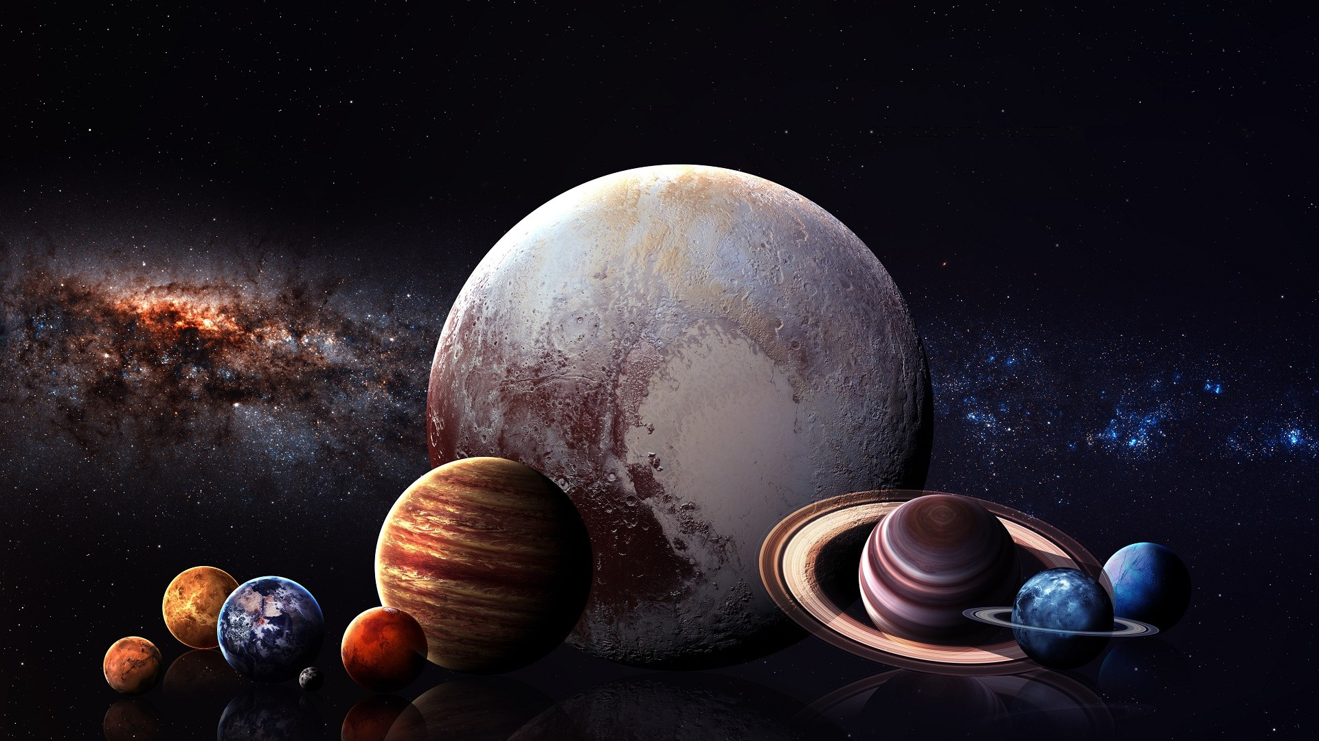 Earth And Moon 3d Wallpaper Solar System Wallpaper 04 1920x1080