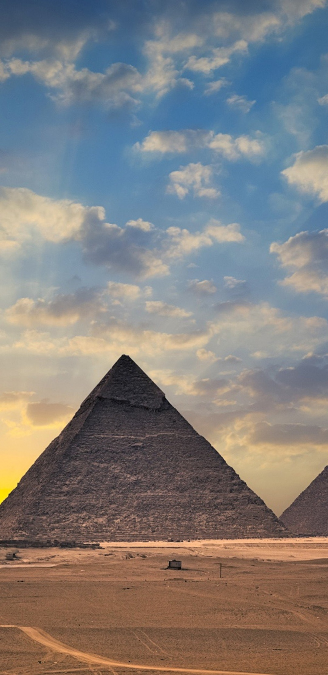 Car Wallpaper 1280x1024 Egypt Pyramids Monument 1080x2220
