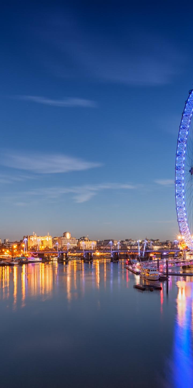 Wallpaper Hd 1080p 3d Flower Landscape London Eye 720x1440