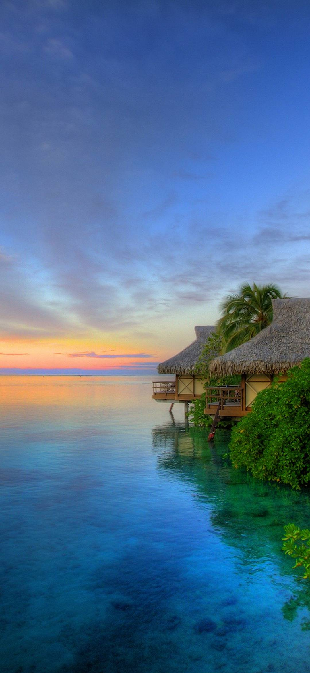 3d Wallpapers For Samsung Phones Island Sunset 1080x2340