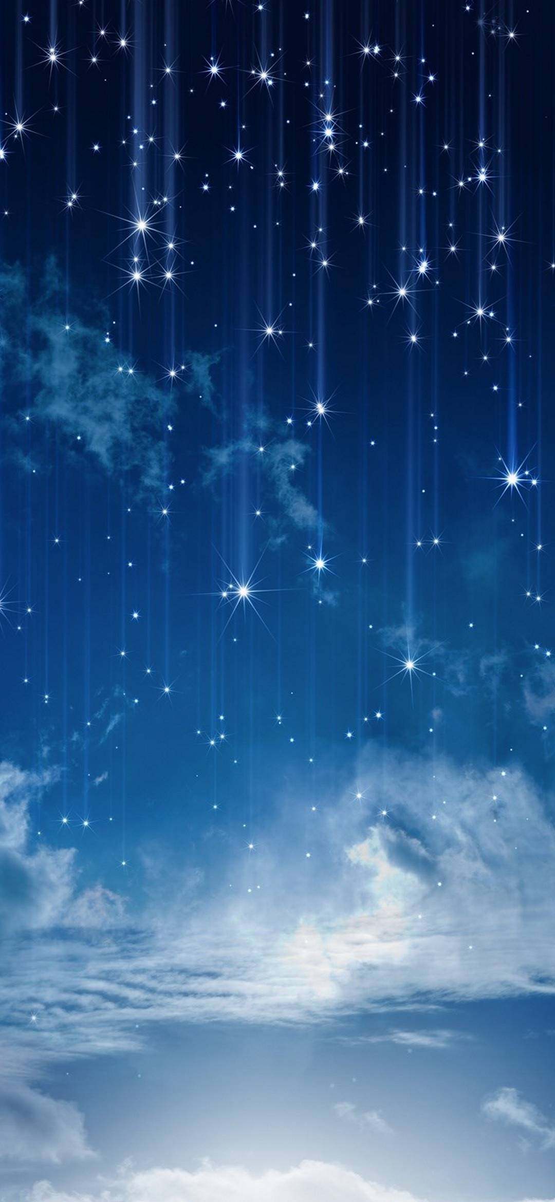 Best 3d Iphone Wallpapers Sky Moonlight Nature Night Stars Clouds 1080x2340