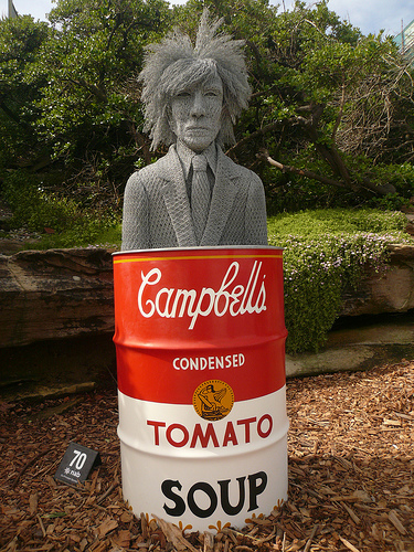 blog voyage australie whv travel campbell's coup warhol sculpture art
