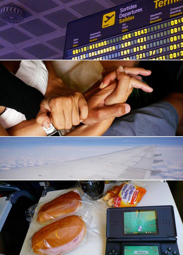 blog voyage australie espagne barcelone avion plane flight airport aeroport food nourriture plateau ds sky ciel