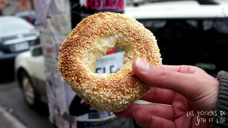 blog voyage canada pvt montreal mile end insolite bagel sesame main viateur bon manger