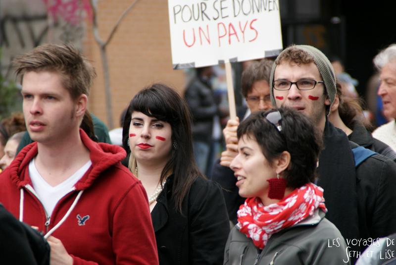 blog voyage canada manifestation montreal etudiante 14 avril 2012