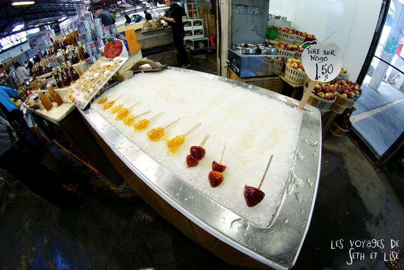 blog pvt canada montreal pvtistes couple tour du monde voyage tire neige erable petite italie marché jean talon