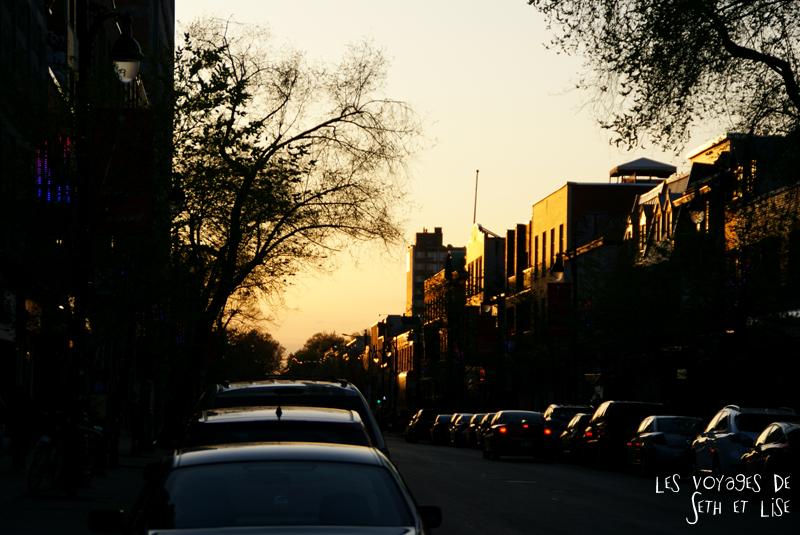 blog pvt canada montreal tourisme whv couche soleil st laurent rue