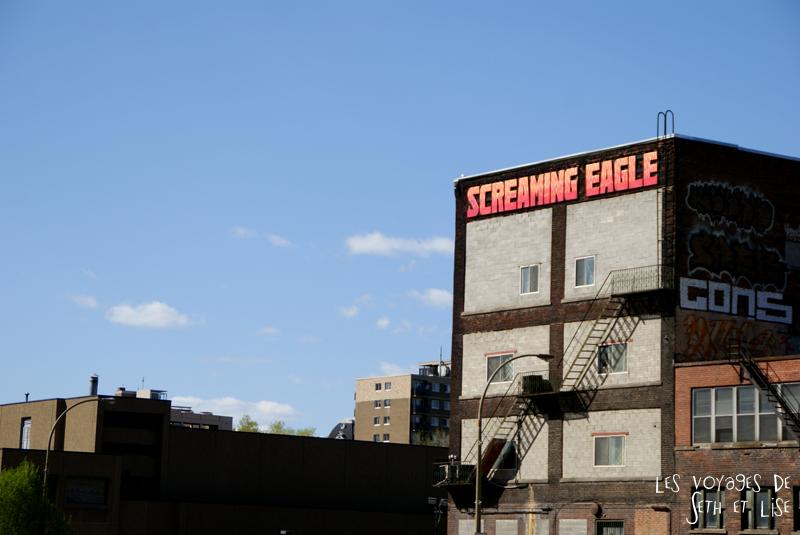 blog pvt canada montreal voyage screaming eagle taf graffiti mur escalier