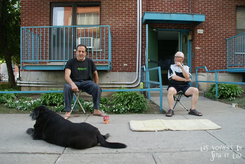 blog pvt canada montreal tour du monde voyage couple relax vieux chien duo rue soleil
