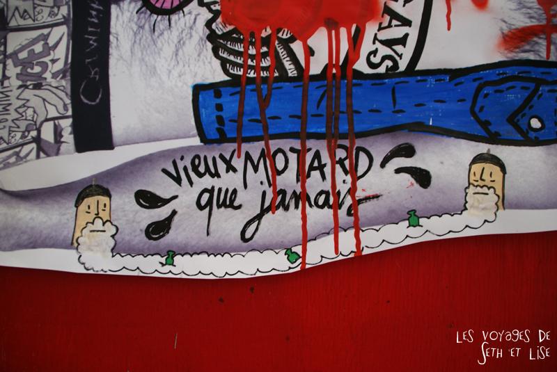 blog pvt canada montreal voyage espace frais peint street art exposition vieux motard drole