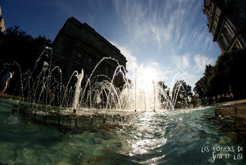blog canada montreal pvt couple tour du monde voyage fontaine