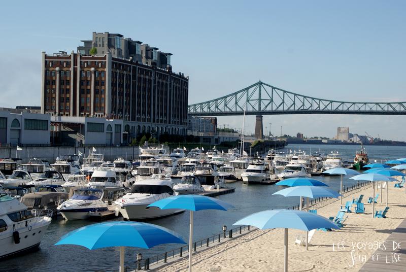 blog canada montreal pvt couple tour du monde voyage plage yachts jacques cartier pont