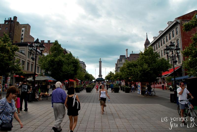 blog canada montreal pvt couple tour du monde voyage jacques cartier place vieux