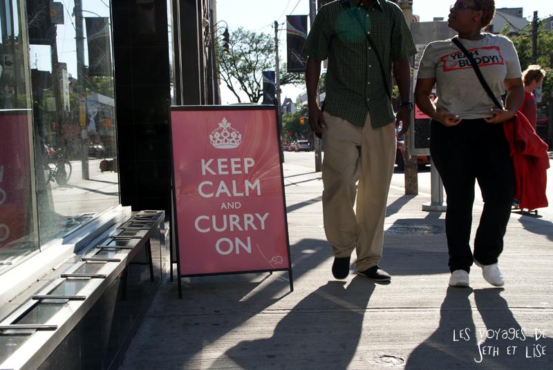 blog pvt canada whv toronto ontartio couple voyage travel tour du monde curry on idian restaurant indien humour