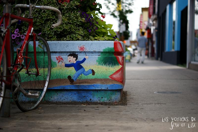 blog pvt canada whv toronto ontartio couple voyage travel tour du monde fleur peinture kawaii