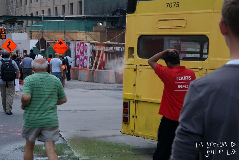 blog pvt canada toronto couple voyage tour du monde portrait seth lise fuite bus essence touriste probleme explosion