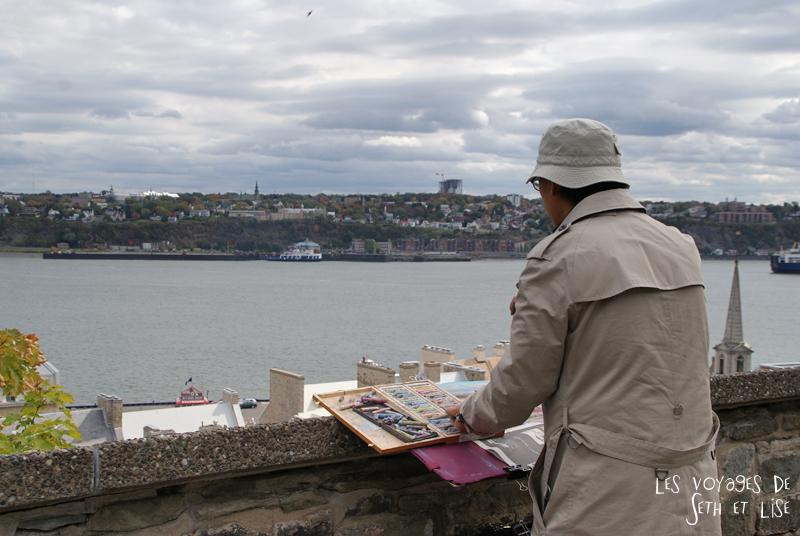 blog photographie canada pvt pvtiste voyage couple tour du monde quebec city ville peintre citadelle