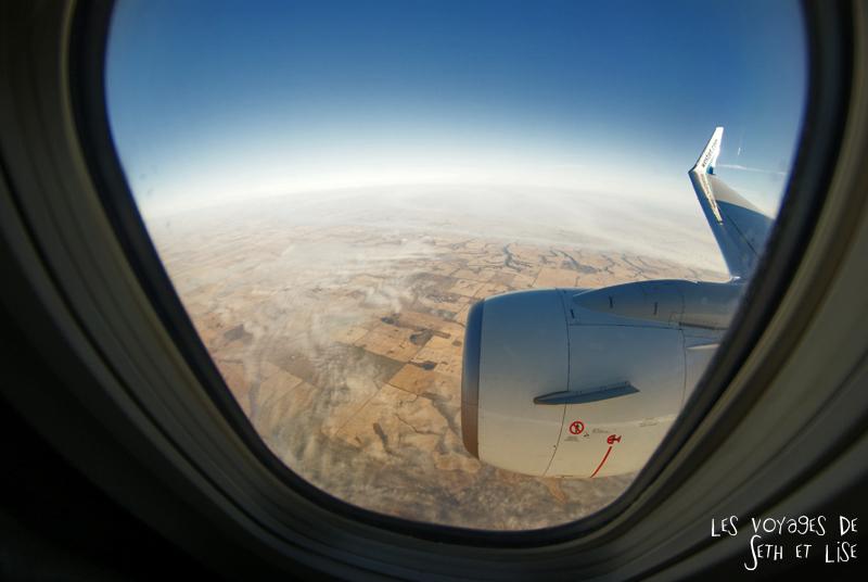 blog photographie voyage canada alberta calgary pvt pvtiste couple paysage avion hublot plane flight