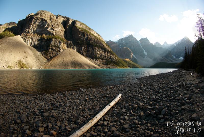 blog photogaphie pvt pvtiste canada alberta rocheuses montagne couple voyage tour du monde paysage nature lac lake moraine
