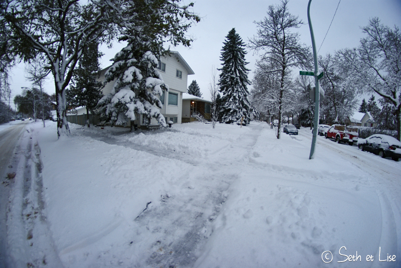 blog canada pvt voyage photo alberta tempete neige hiver trottoir