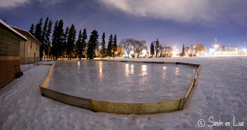 blog voyage canada pvt aurora aurore boreale edmonton hiver patinoire