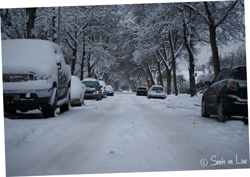 blog canada pvt voyage photo alberta tempete neige hiver rue