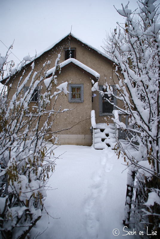 blog canada pvt voyage photo alberta tempete neige hiver maison