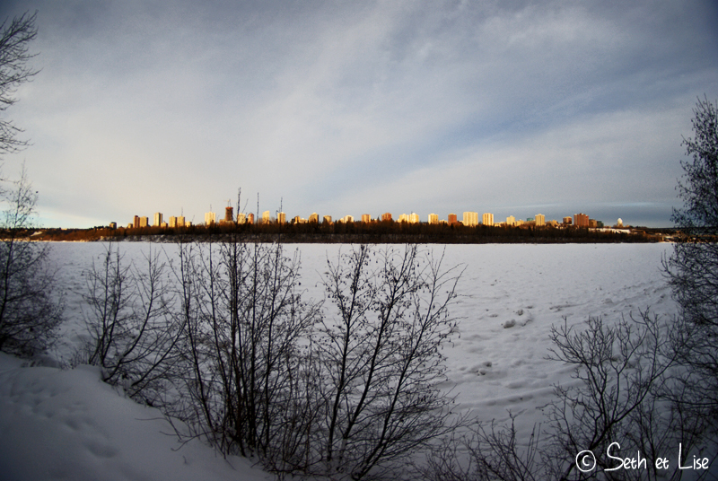blog voyage canada photo pvt edmonton hiver river valley downtown