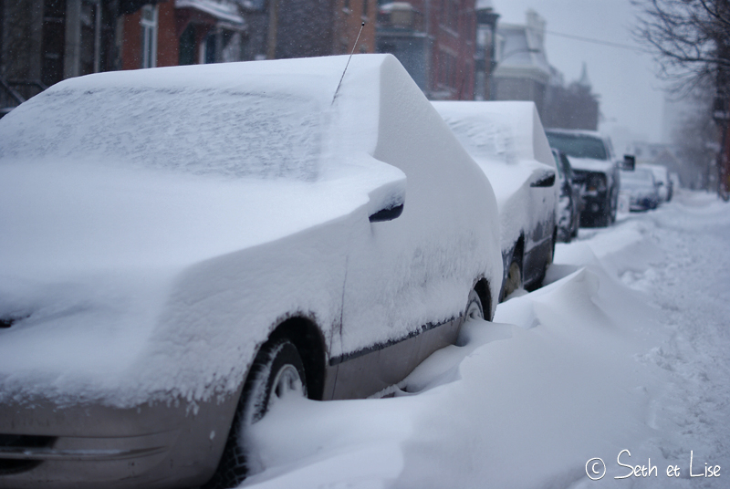 blog canada pvt voyage phot bd neige voiture tempete montreal