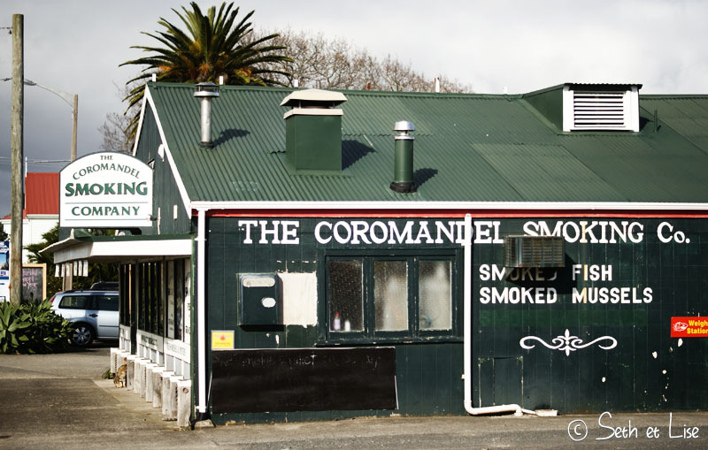 Coromandel : moules fumées et ville typique