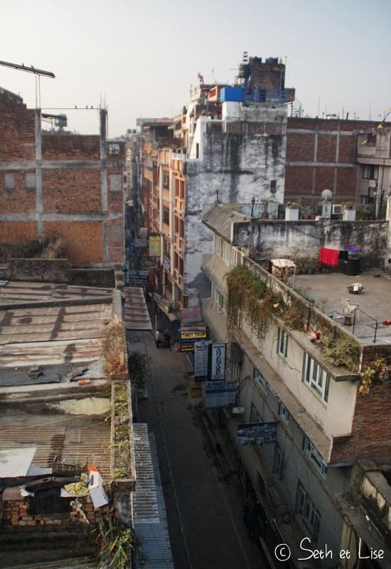 blog voyage tour du monde nepal katmandou toit thamel